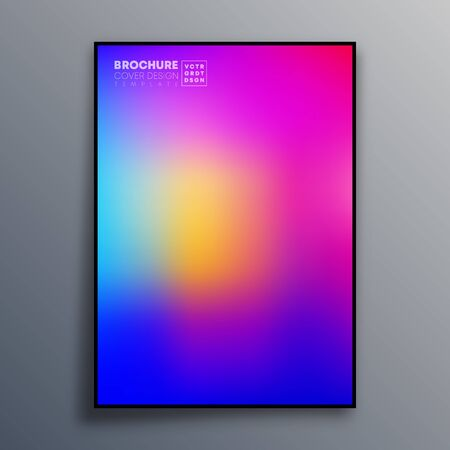 Abstract poster design with colorful gradient texture for wallpaper, flyer, poster, brochure cover, typography or other printing products. Vector illustration Фото со стока - 136057936