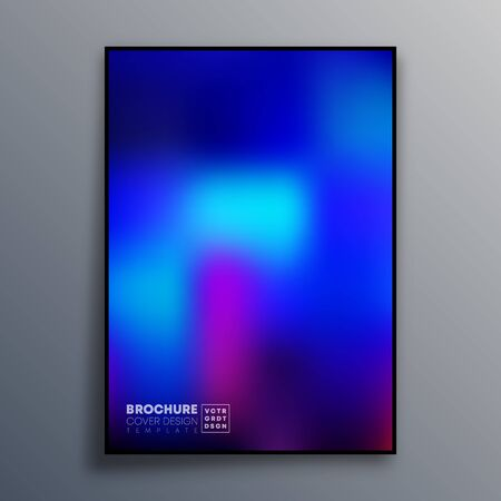 Abstract poster design with colorful gradient texture for wallpaper, flyer, poster, brochure cover, typography or other printing products. Vector illustration Фото со стока - 136057899