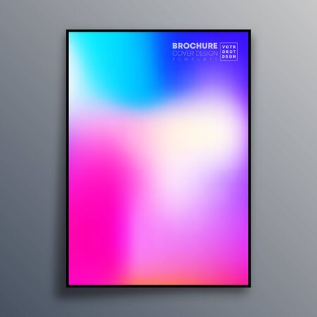 Abstract poster design with colorful gradient texture for wallpaper, flyer, poster, brochure cover, typography or other printing products. Vector illustration Фото со стока - 136059465