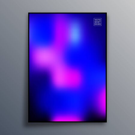 Poster template design with colorful gradient texture for wallpaper, flyer, placard, brochure cover, typography or other printing products. Vector illustration. Фото со стока - 136688479