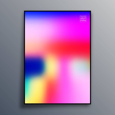 Poster template design with colorful gradient texture for wallpaper, flyer, placard, brochure cover, typography or other printing products. Vector illustration Фото со стока - 136688745