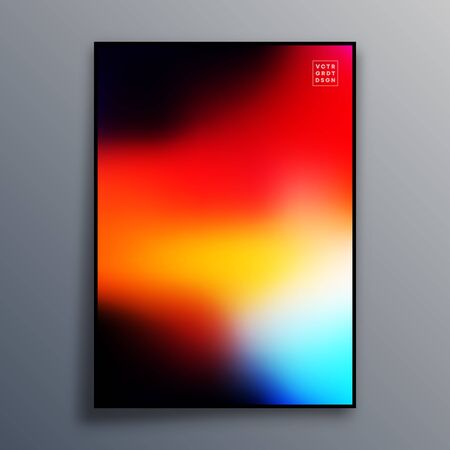 Poster template design with colorful gradient texture for wallpaper, flyer, placard, brochure cover, typography or other printing products. Vector illustration Фото со стока - 136688753