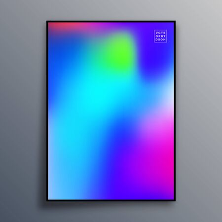 Poster template design with colorful gradient texture for wallpaper, flyer, placard, brochure cover, typography or other printing products. Vector illustration. Фото со стока - 136688526