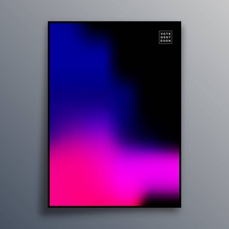 Colorful gradient texture for wallpaper, flyer, poster, brochure cover, typography or other printing products. Vector illustration. Фото со стока - 136915744