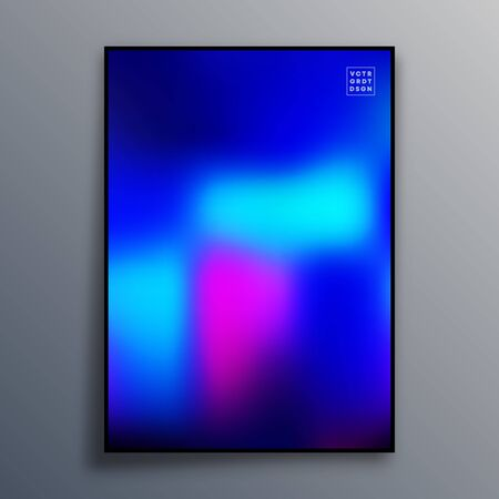 Colorful gradient texture for wallpaper, flyer, poster, brochure cover, typography or other printing products. Vector illustration. Фото со стока - 136915714