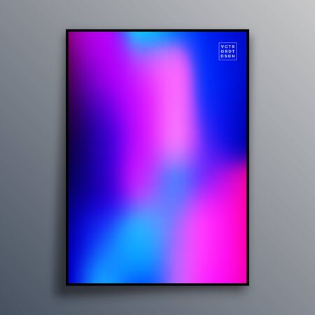 Colorful gradient texture for wallpaper, flyer, poster, brochure cover, typography or other printing products. Vector illustration. Фото со стока - 136915751
