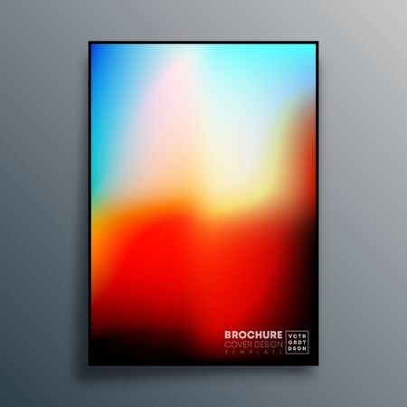 Poster with colorful gradient texture design for wallpaper, flyer, brochure cover, typography or other printing products. Vector illustration. Фото со стока - 137528907