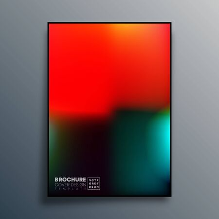 Poster with colorful gradient texture design for wallpaper, flyer, brochure cover, typography or other printing products. Vector illustration. Фото со стока - 137529605