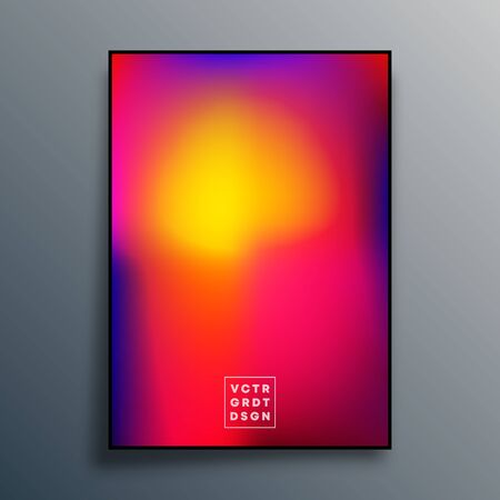 Poster with colorful gradient texture design for wallpaper, flyer, brochure cover, typography or other printing products. Vector illustration.