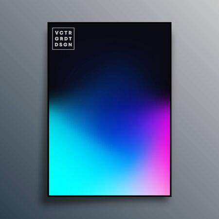 Poster with colorful gradient texture design for wallpaper, flyer, brochure cover, typography or other printing products. Vector illustration Фото со стока - 137692120