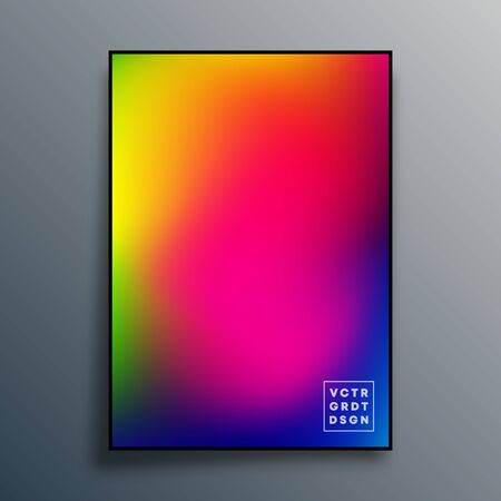 Poster with colorful gradient texture design for wallpaper, flyer, brochure cover, typography or other printing products. Vector illustration