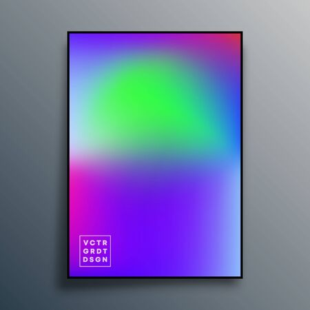 Poster with colorful gradient texture design for wallpaper, flyer, brochure cover, typography or other printing products. Vector illustration Фото со стока - 137696610