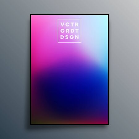 Colorful gradient texture poster design for wallpaper, flyer, brochure cover, typography or other printing products. Vector illustration