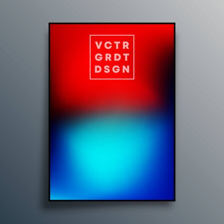 Gradient texture poster design for wallpaper, flyer, brochure cover, typography or other printing products. Vector illustration.