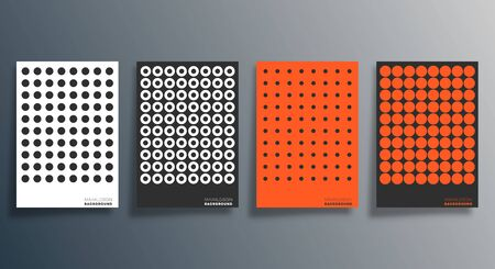 Minimal geometric design for flyer, poster, brochure cover, background, wallpaper, typography or other printing products. Vector illustration Vecteurs