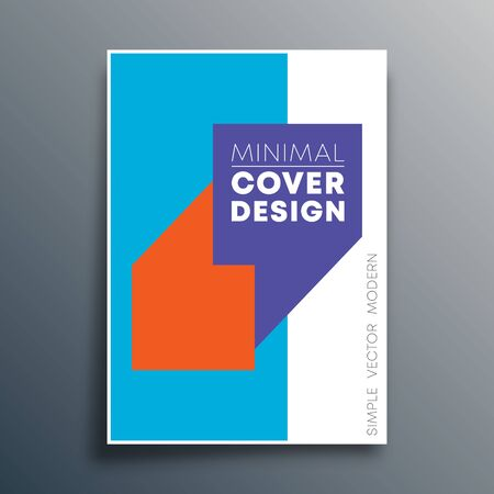 Poster template with quote commas design for flyer template, poster, brochure cover, typography, or other printing products. Vector illustration. Ilustração Vetorial