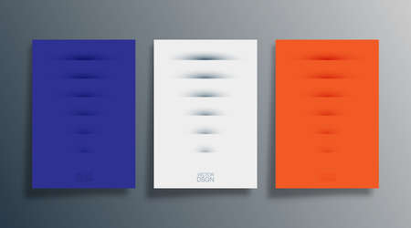 Set of abstract design cover for background, flyer, poster, brochure, typography, or other printing products. Vector illustration