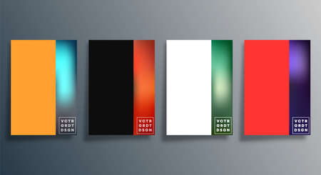 Set of abstract gradient design cover for background, flyer, poster, brochure, typography, or other printing products. Vector illustration