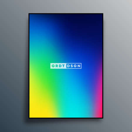 Abstract gradient texture design for background, poster, flyer, brochure cover, or other printing products. Vector illustration.