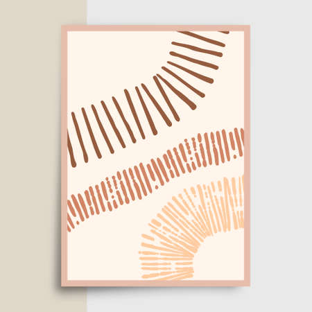 Abstract minimalistic typography with hand drawn shapes design for poster, flyer, brochure cover, or other printing products. Vector illustration Illusztráció