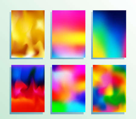 Gradient texture set for poster, wallpaper, flyer, brochure cover, typography, or other printing or web products. Vector illustration