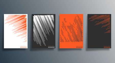 Minimal halftone design for flyer, poster, brochure cover, background, wallpaper, typography or other printing products. Vector illustration