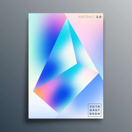 Gradient texture shape design for poster, wallpaper, flyer, brochure cover, typography, or other printing products. Vector illustration 写真素材 - 159308516