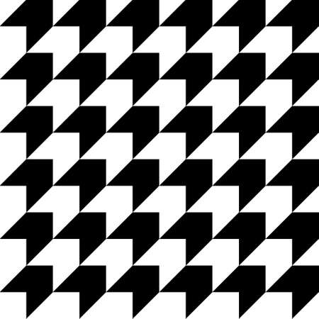 Black and white houndstooth seamless pattern. Minimal design geometric background. Vector illustration