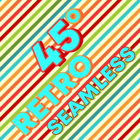Retro design seamless background with vintage color diagonal lines. Vector illustration. 写真素材 - 159934474