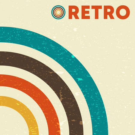 Retro grunge texture background with vintage colored lines. Vector illustration.