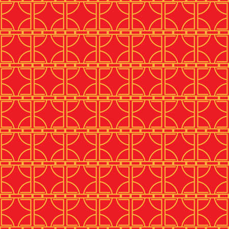 Chinese seamless pattern. Minimal China style geometric background. Vector illustration. 写真素材 - 160280530