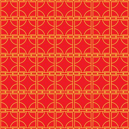 Chinese seamless pattern. Minimal China style geometric background. Vector illustration.