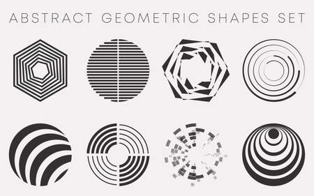 Abstract geometric shapes set design for flyer, brochure cover, wallpaper, poster typography, and other printing products, or various web project. Vector illustration Ilustracja