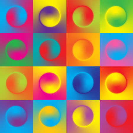 Seamless colorful background with multicolor gradient design circles. Vector illustration