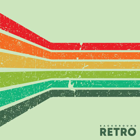 Vintage grunge texture background with color retro stripes. Vector illustration 写真素材 - 163007132