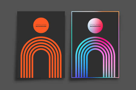 Gradient and minimal line design for background, wallpaper, flyer, poster, brochure cover, typography, or other printing products. Vector illustration.