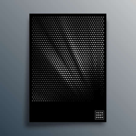 Halftone pattern design for flyer, poster, brochure cover, background, wallpaper, typography, or other printing products. Vector illustration  イラスト・ベクター素材