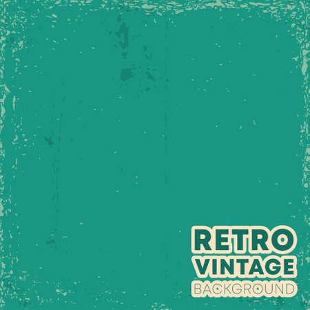 Retro vintage design background with grunge texture. Vector illustration
