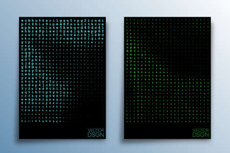 Abstract matrix effect design for background, wallpaper, flyer, poster, brochure cover, typography, or other printing products. Vector illustration.