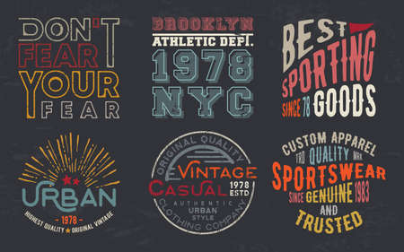 Vintage design print for t-shirt stamp, tee applique, fashion typography, badge, label clothing, jeans, and casual wear. Vector illustration. Vector Illustration