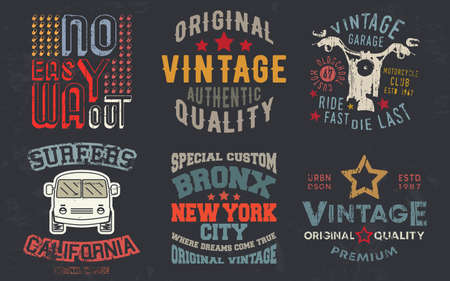 Vintage design print for t-shirt stamp, tee applique, fashion typography, badge, label clothing, jeans, and casual wear. Vector illustration.