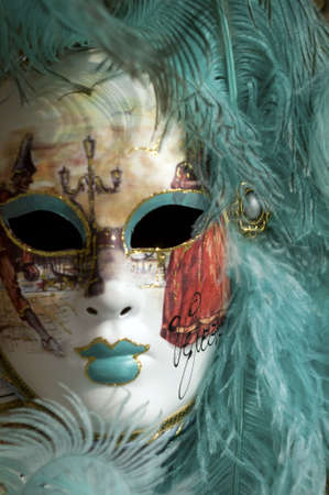 Typical mask in Venice photo