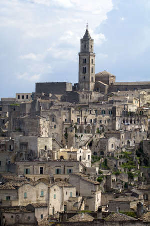 mel: A view of the town of Matera in Basilicata, Italy Stock Photo