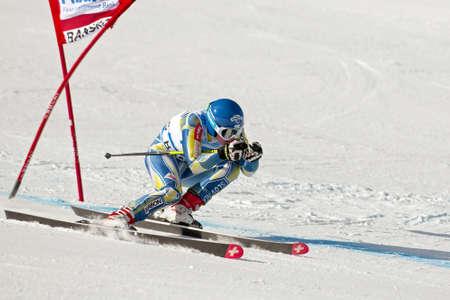 BANSKO, BULGARIA - FEBRUARY 24   Marusa Ferk  SLO  competes in the  ladies