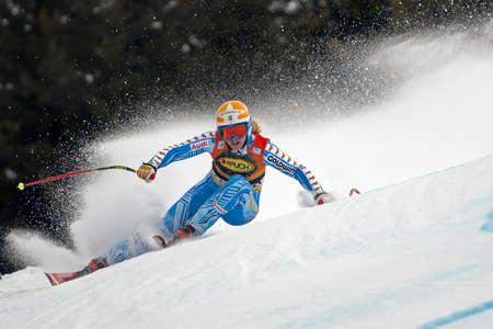 ski goggles: BANSKO, BULGARIA - FEBRUARY 26  Jessica Lindell-Vikarby  SWE  competing in Audi FIS Alpine Ski World Cup  Ladies