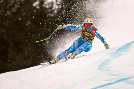 BANSKO, BULGARIA - FEBRUARY 26  Ania Paerson  SWE  competing in Audi FIS Alpine Ski World Cup  Ladies