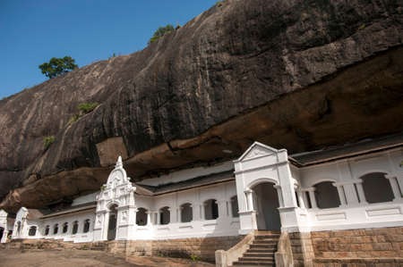 sri: Dambulla cave temple in Matale district, Srilanka.