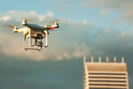 video still: SOFIA, BULGARIA - JULY 03, 2015:Image of the phantom 3 professional quadcopter which shoots 4k video and 12mp still images on the July 03, 2015 ,Sofia, Bulgaria.