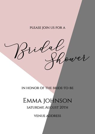 Bachelorette party, bridal shower calligraphy invitation card, banner or poster lettering vector design. Bridal shower quote.