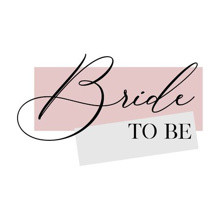 Bachelorette party, bridal shower calligraphy invitation card, banner or poster lettering vector design. Bride to be quote. Vettoriali